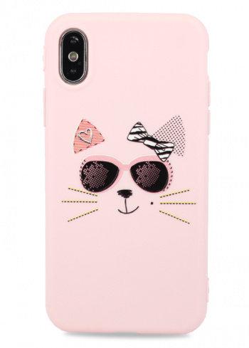 Чехол для iPhone X/XS Flossy силикон (Cat)