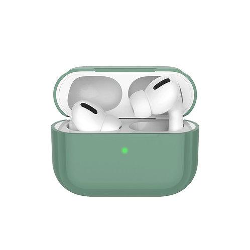 Силиконовый чехол для AirPods Pro, темно-зеленый, Deppa