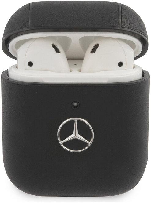 Чехол CG Mobile Mercedes Genuine leather with metal logo для AirPods 1/2