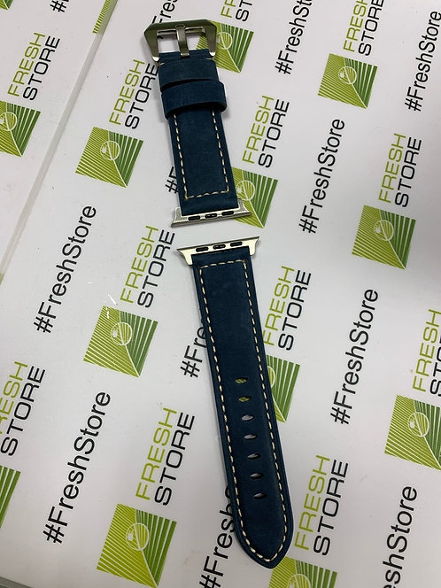 Кожаный ремешок для Apple Watch 42/44mm темно-синий