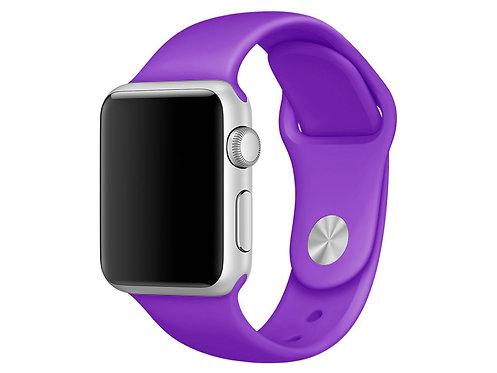 Ремешок силиконовый для Apple Watch 44/42мм фиолетовый