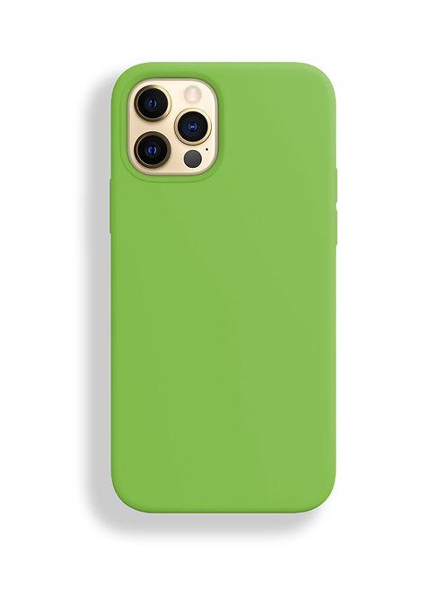 """""""Зеленый"""" чехол силиконовый на айфон на Apple iPhone 12/12 PRO MAX"""