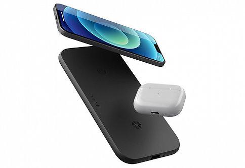Беспроводное зарядное устройство ZENS Dual Fast Wireless Charger 2 x 10W Slim