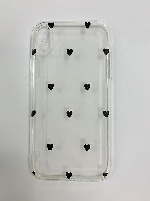 Силиконовый чехол для iPhone XR с сердечками