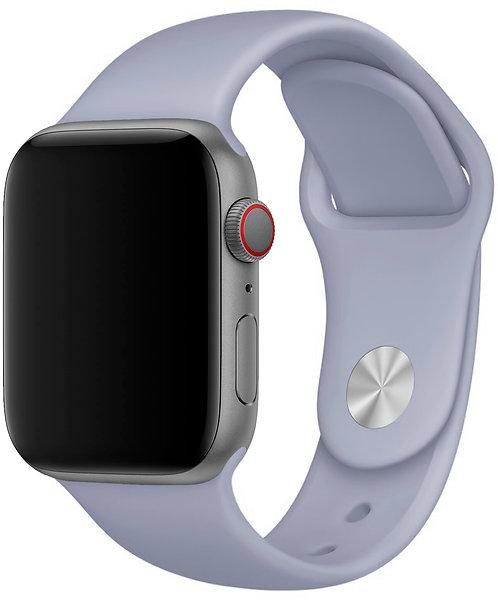 Ремешок силиконовый для Apple Watch 42mm/44mm, лавандово-серый
