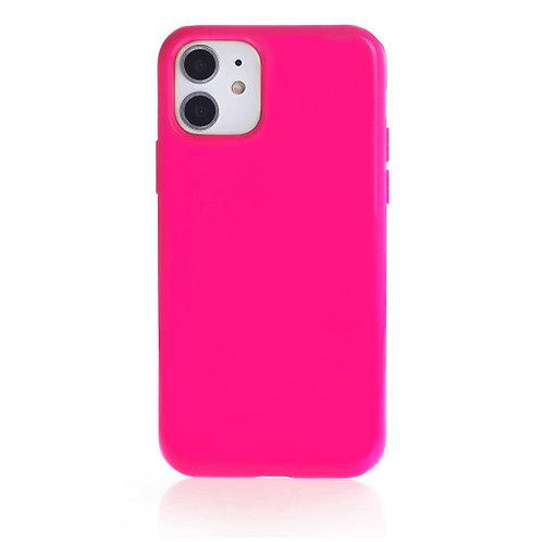 Накладка iPhone 11 Silicone Case фуксия