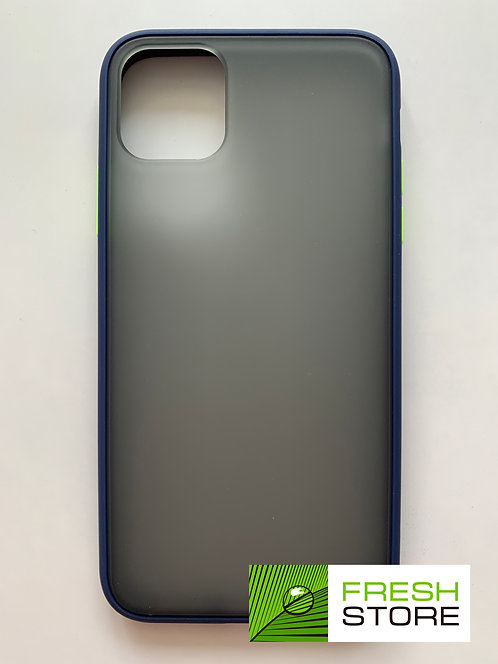 Защитный чехол для iPhone 11 Pro Max с полной защитой темно-синий