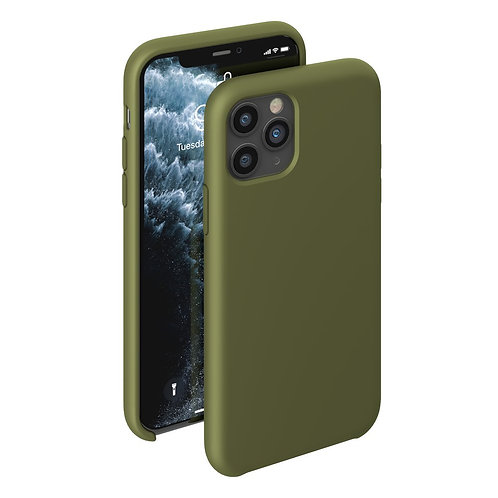 Чехол Liquid Silicone Case для Apple iPhone 11 Pro оливковый
