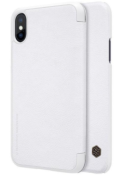 Чехол-книжка для iPhone X G-Case Business Series белый