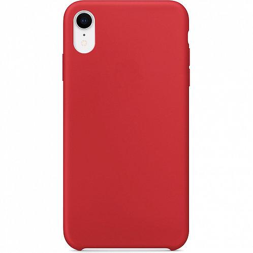 Накладка iPhone XR Silicone Case красный
