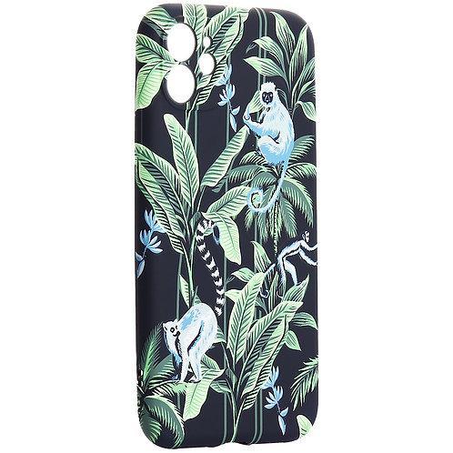 """Чехол-накладка силикон Luxo для iPhone 11 (6.1"""") 0.8мм с флуоресцентным рисунком"""