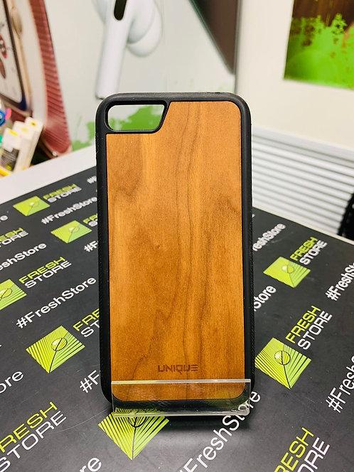 Чехол UNIQUE для iPhone 7/8/SE 2020 с накладкой из натурального дерева