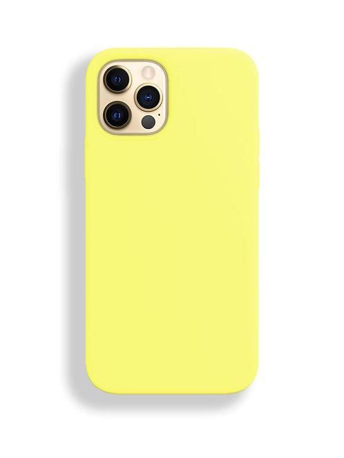 """""""Желтый"""" чехол силиконовый на айфон на Apple iPhone 12/12 PRO MAX"""