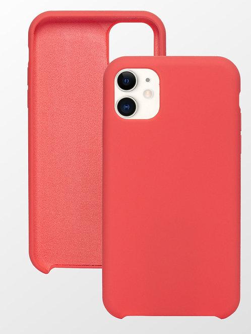 Накладка iPhone 11 Silicone Case коралловый