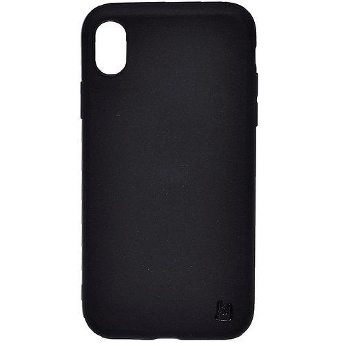 Чехол - накладка для iPhone Xr YOLKKI Alma силикон матовый черный (1мм)