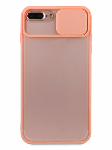 Чехол для iPhone 6+/7+/8+ Color camera protection силикон (Розовый)
