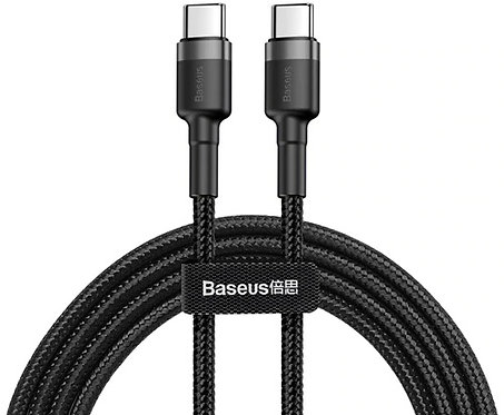 Кабель Baseus Cafule (CATKLF-GG1) USB Type C 1m (Black)