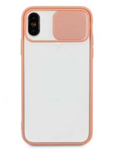 Чехол для iPhone X/XS Color camera protection силикон