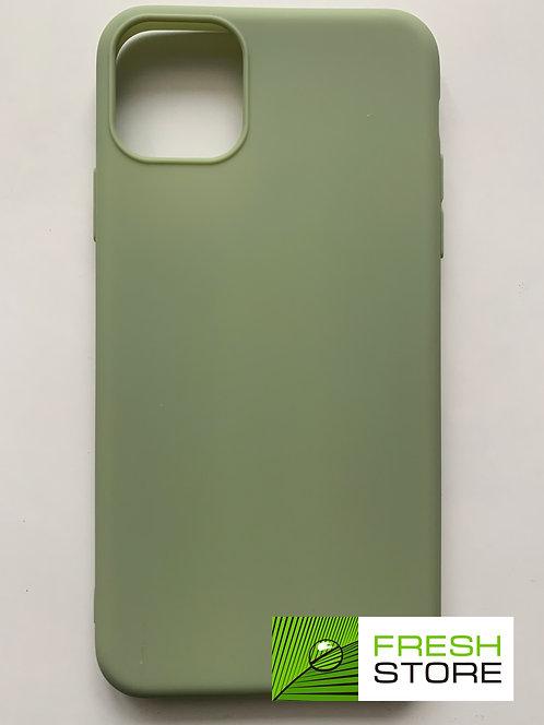 Чехол мягкий для iPhone 11 Pro Max зеленый