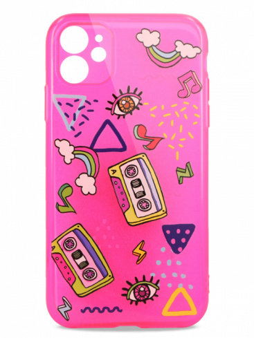 Чехол для iPhone 11 Pink mood силикон (Music)