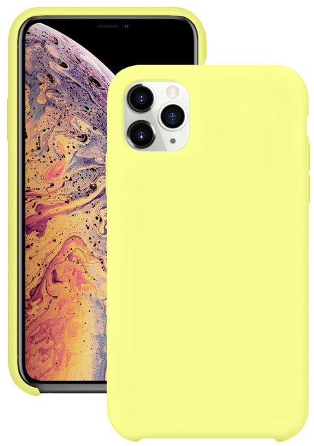 Накладка iPhone 11 Pro Silicone Case лимонный