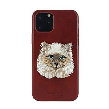 Чехол Santa Barbara Savanna для iPhone 12 mini Кожаный Персидский Кот Красный