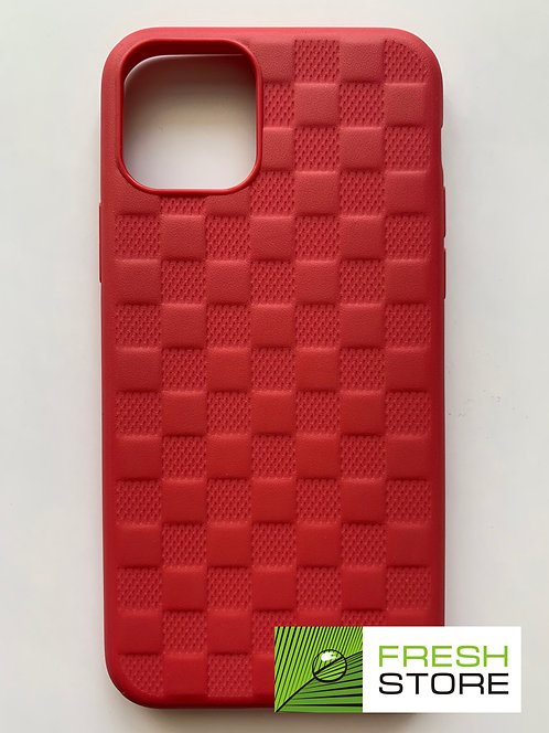 Чехол пластиковый Usams красный в клетку