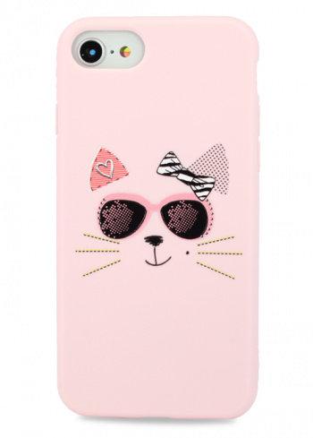 Чехол для iPhone 7/8/SE (2020)Flossy силикон (Cat)