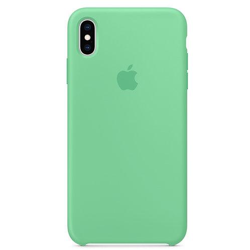 Силиконовый чехол для iPhone XS Max, цвет «нежная мята»