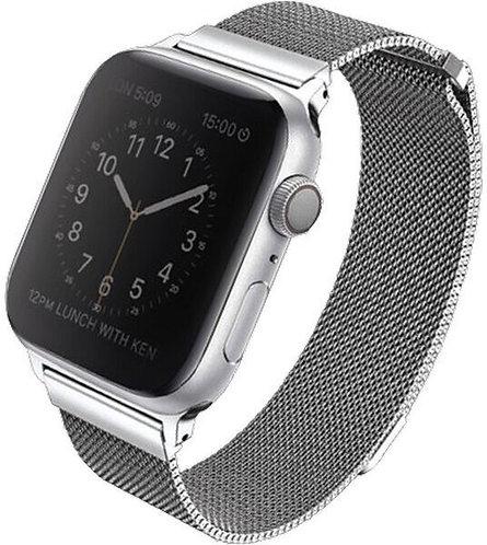 Ремешок Uniq Dante Strap Steel для Apple Watch 38/40 мм, цвет Серебристый