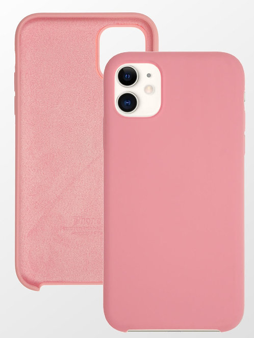 Накладка iPhone 11 Silicone Case светло-розовый