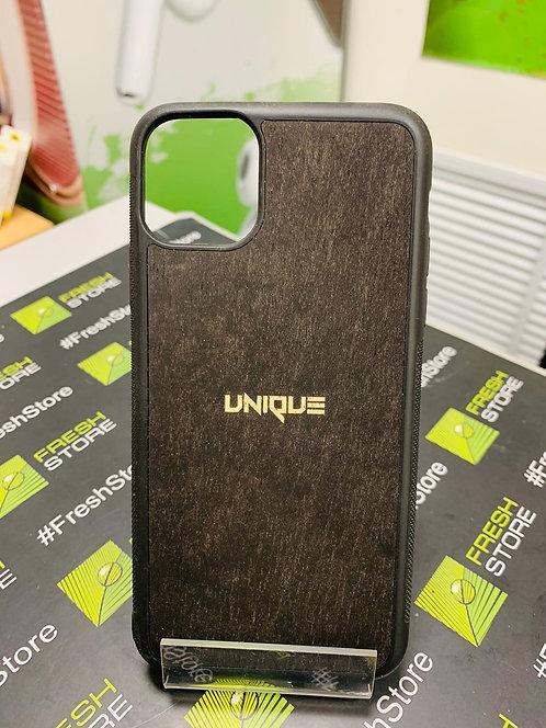 Чехол UNIQUE для iPhone 11 Pro Max с накладкой из натурального дерева