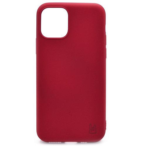 Чехол - накладка для iPhone 11  YOLKKI Rivoli силикон темно-розовый