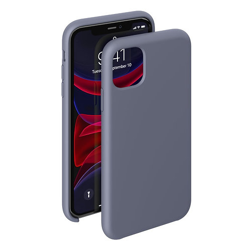 Чехол Liquid Silicone Case для Apple iPhone 11 Pro Max серо-лавандовый