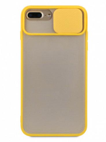 Чехол для iPhone 6+/7+/8+ Color camera protection силикон (Желтый)