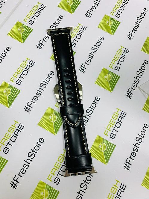 Кожаный ремешок для Apple Watch 42/44mm черный