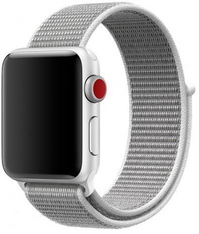 Ремешок из плетёного нейлона для Apple Watch 38/40mm белый