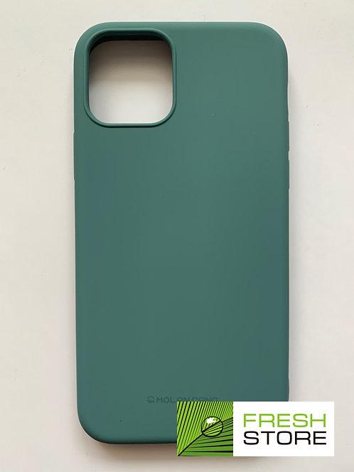 Чехол силиконовый для Apple iPhone 11 Pro темно-зеленый