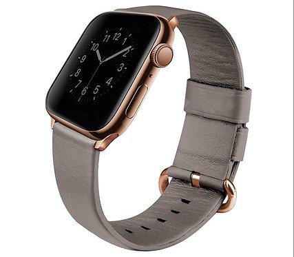 Кожаный ремешок Uniq Mondain Strap Leather для Apple Watch 38/40 мм,цвет Бежевый
