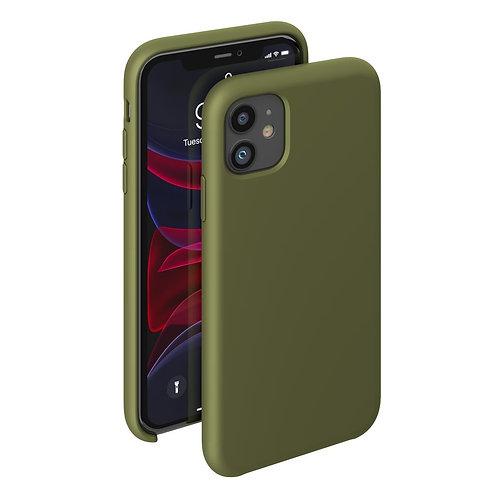 Чехол Liquid Silicone Case для Apple iPhone 11 оливковый