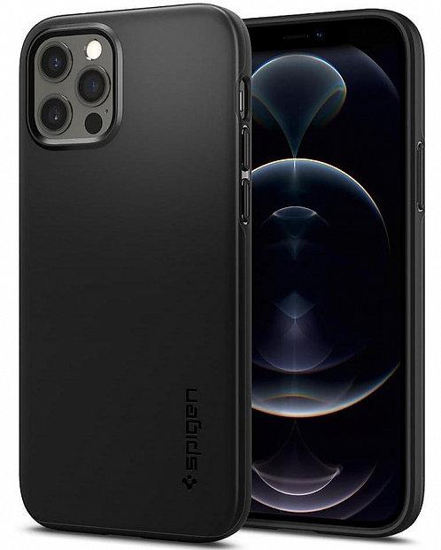 Чехол Spigen Thin Fit для iPhone 12/12 Pro (Black)
