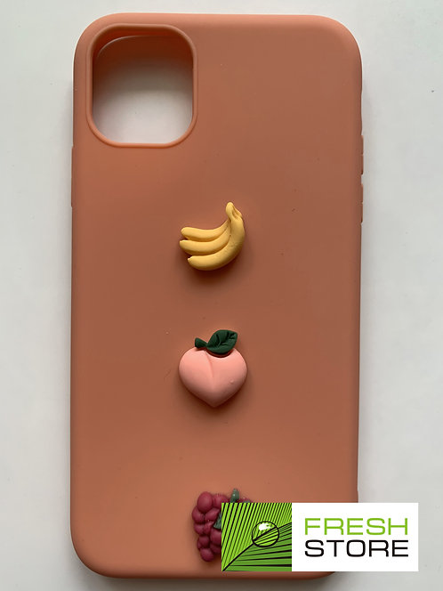 Чехол Color Case для Apple iPhone 11 фрукты