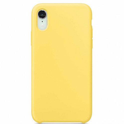 Накладка iPhone XR Silicone Case желтый
