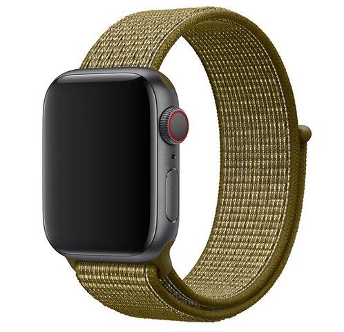 Ремешок из плетёного нейлона для Apple Watch 42/44mm оливковый цвет