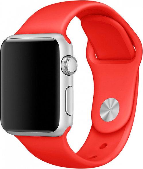 Ремешок силиконовый для Apple Watch 44/42мм красный