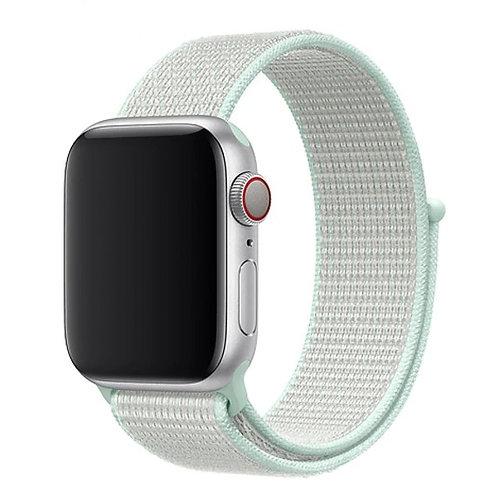 Ремешок из плетёного нейлона для Apple Watch 38/40mm бирюзовый цвета
