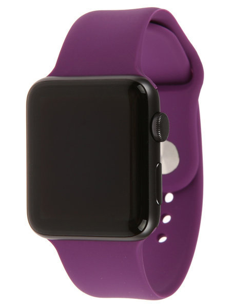 Ремешок силиконовый для Apple Watch 38/40мм темно-фиолетовый