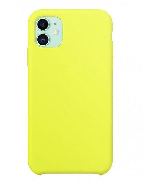 Накладка iPhone 11 Silicone Case желтый