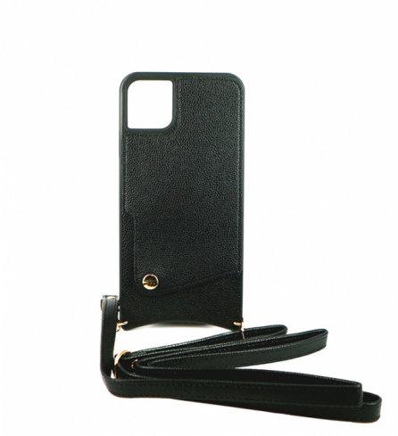 Чехол для iPhone 11 Diva кожа (Черный)