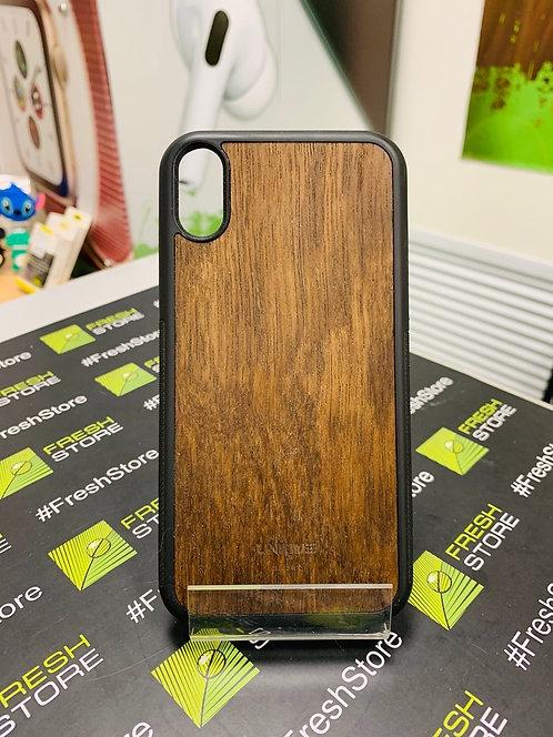 Чехол UNIQUE для iPhone XR с накладкой из натурального дерева